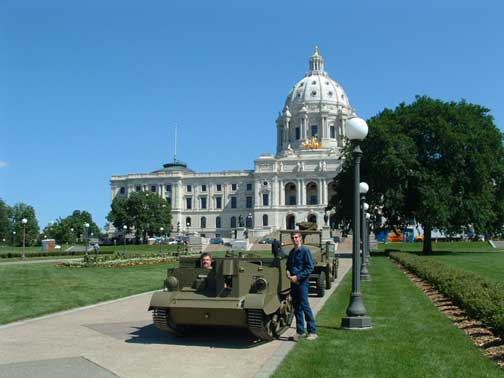 John's Canadian MKI carrier in front of the MN state capitol. They were watching me closely to see if I was messing up their concrete! Just a few scuffs.
