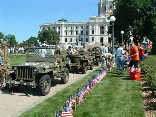 The day of the dedication. Thousands of people visited. Many of the WWII veterans told us stories about their time in combat. The vehicles triggered many memories.