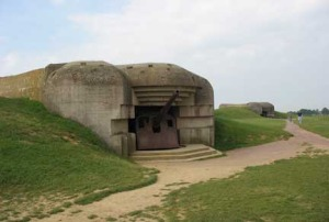 Batterie de Longues Sur Mer Four German gun casemates and a range-finding post overlooking the D-day beaches.