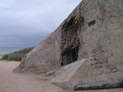 Another bunker. The damage above the window port was a direct hit. The gun is still in this bunker.