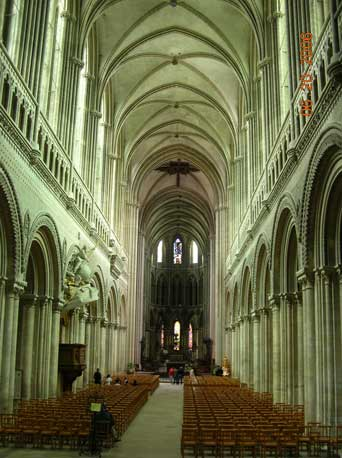 La Cathedrale Notre-Dame de Bayeux - one of the many beautiful cathedrals we toured in France.