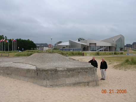 Heading east of Arromanches we stopped at Juno Beach. Mike and Don standing by a Tobruk on the Beach. The building in the background is the only Canadian museum of the D-Day beaches. We had a lot we wanted to see that day so we didn't take the time to tour this museum.
