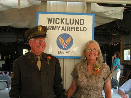 In a matter of days, Don & Jackie's pole barn was transformed into the Wicklund Army Airfield.