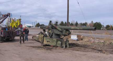 How do you move a 15-ton Long Tom Howitzer? ...