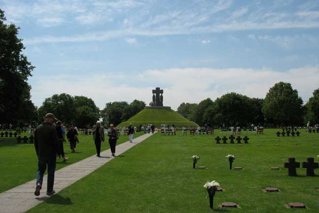 Part of the history of the coast is the German Cemetery. Quite impressive in it's own right. Different than the US Cemetery, but beautiful too. Most graves have at least 2 soldiers per. The center mound is a mass grave with dozens of soldiers. Worth the visit too. They paid a heavy price also.