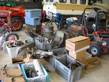 Some of the parts from the TJO business. These are just the pieces at the store. There is one more building that needs to be emptied.