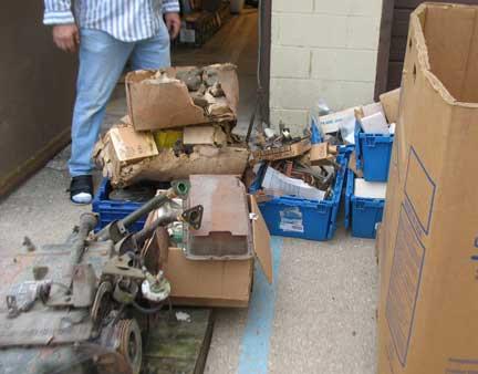 I got one big triwall box of parts from this warehouse. Some of them are shown here.