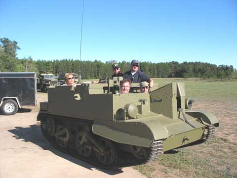 New this year was the Bren Gun Carrier rides. You had your choice of a casual cruise or ...