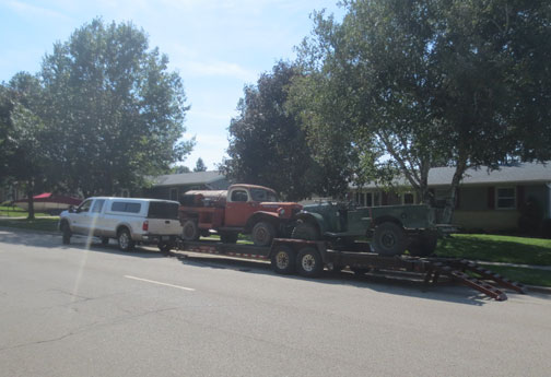 Early Oil Delivery power wagon on its way to a new home and the WC loaded for its new home.