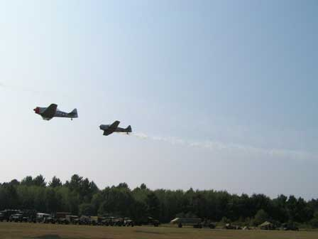 3 Vintage WWII War Birds in action. These are T6 advanced trainers.