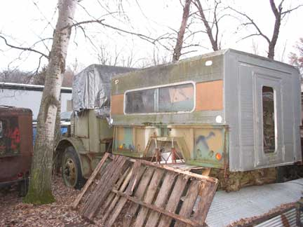 Marmon Harrington. No cargo box. Does not run, engine is free. Some rust, not bad.