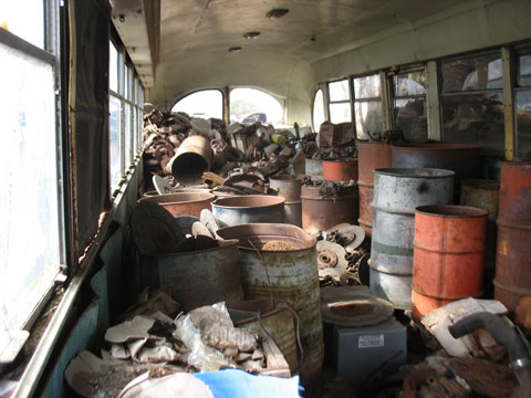 This old bus turned out to have some nice items. Spent a couple hours in here.
