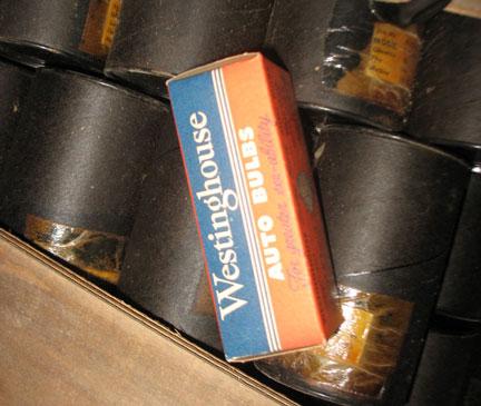Found an original crate of 6V marker light bulbs.