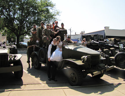 They opted to use the Half Ton and asked our men and women in uniform to pose with them!