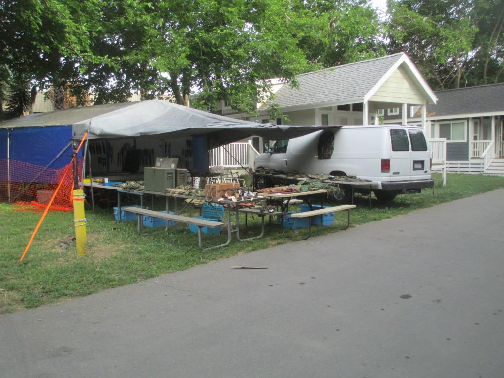 Vending tables at most campsites