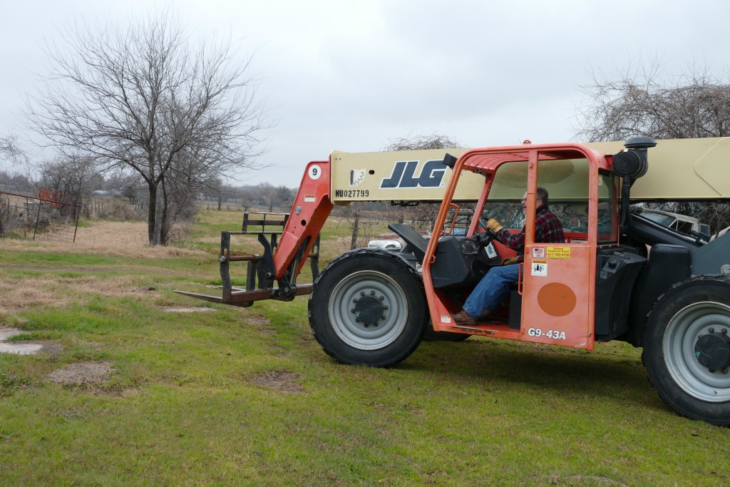 We would have been lost without this rough terrain forklift.