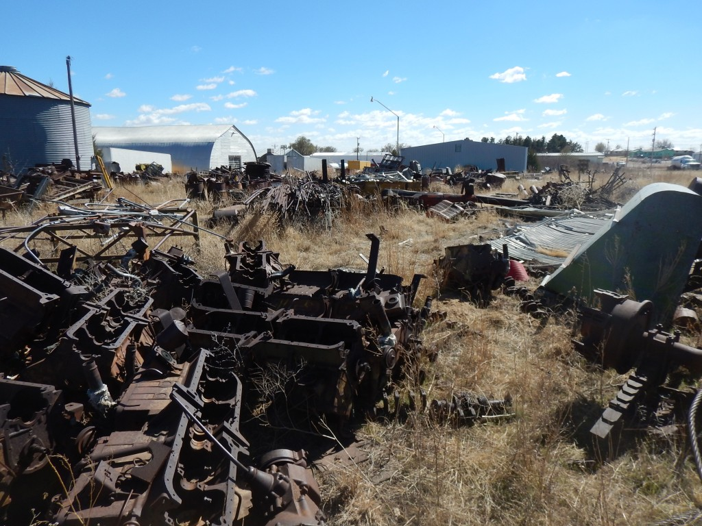 Here is the pile of Cadillac engines. All the crankshafts were gone.